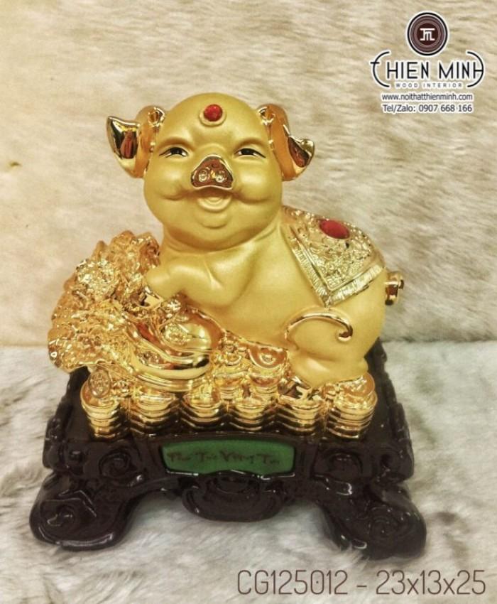 Tượng Con Heo Mạ Vàng Phong Thủy